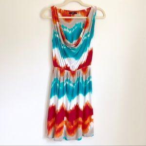 Tart Cowl Neck Sleeveless Ombré Summer Dress